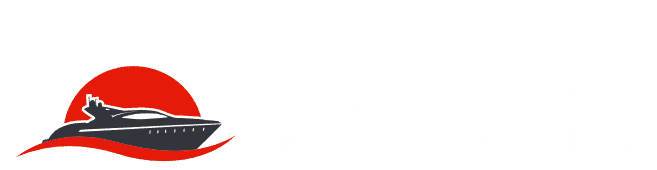 Logo de KapMer horizontal blanc sur fond transparent
