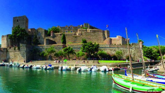 Château royal de Collioure lors de la Balade 3 Ports sur le bateau Barracuda de la compagnie maritime KapMer