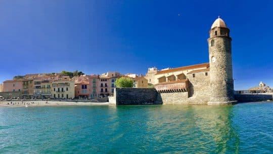 Eglise de Collioure lors de la Balade 3 Ports ou la Croisière Vision sous-marine