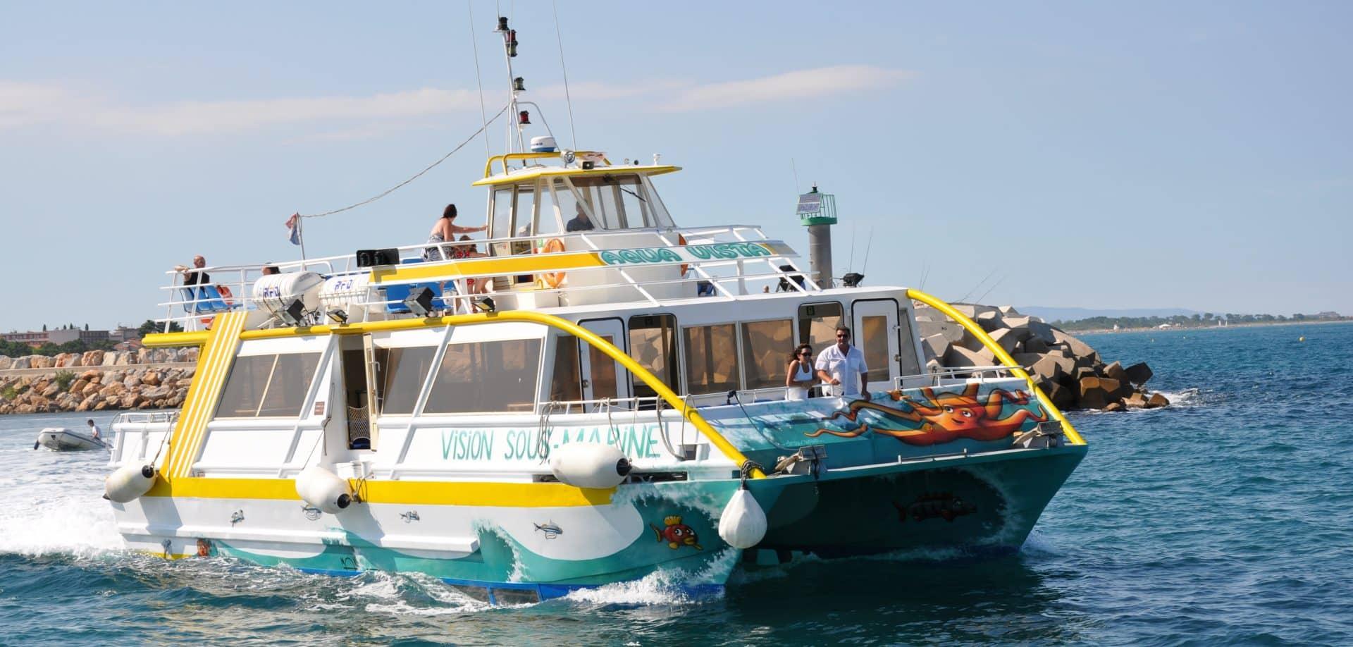L'Aquavista bateau vision sous marine