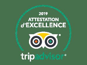 Certificat d'excellence 2019 - Trip Advisor