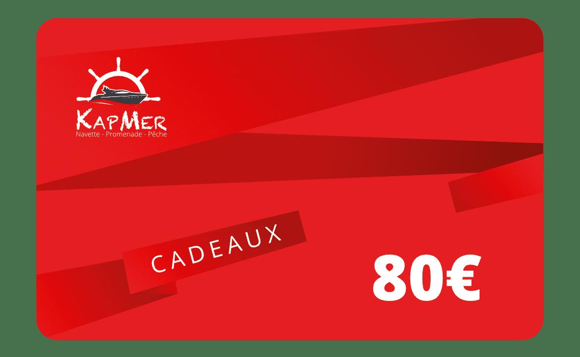 La carte cadeaux KapMer de 80€ vous permet d'acheter toutes nos prestations en ligne.
