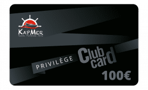 Carte Privilège KapMer de 100€ et jusqu'à -15%