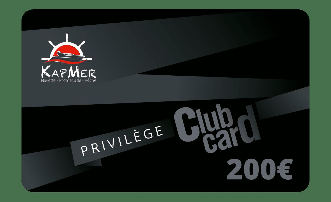 La carte Privilège KapMer de 200€ vous permet d'acheter toutes nos prestations en ligne et de bénéficier jusqu'à -15% de réduction sur tous nos prestations.